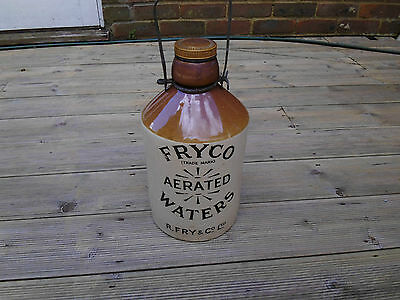 Vintage Fryco Aerated Water Stoneware Flagon with Stopper. Fine Condition