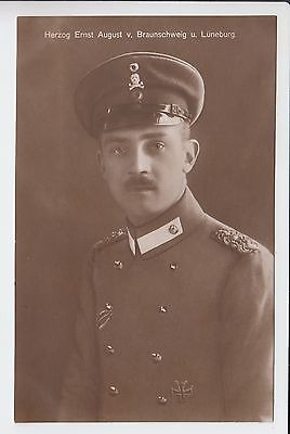 Prince Ernst August of Hannover uniform - HUSSAR - with Iron Cross RPPC