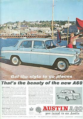 1962 Austin A60 Colour Magazine Advert