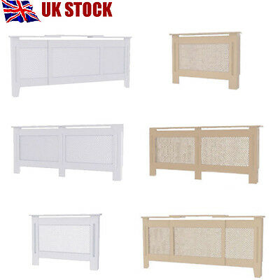 Wooden Radiator Cover MDF Natural White Painted Wall Cabinet Traditional Modern