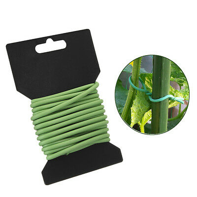 3.5mm Thick Soft Plant Support Tie Coated Wire Reusable Twist Garden Greenhouse
