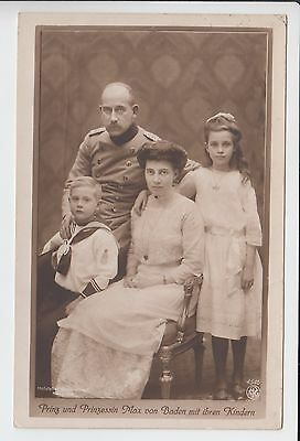 Whole family of Prince Max of Baden RPPC