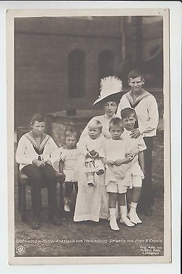 Grand Dss Anastasia of Russia / Mecklenburg Schwerin with grandsons RARE RPPC