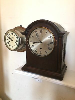 Vintage Big Bracket Clock Retailor Walker & Hall Ltd