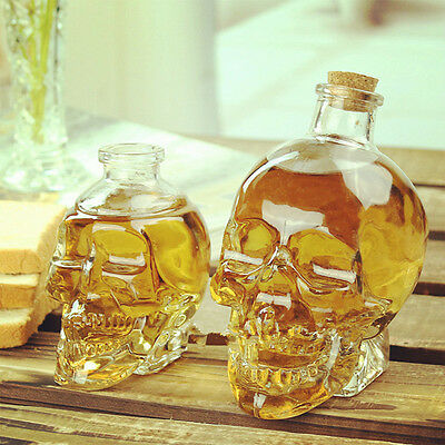 80ml Skull Head Shot Crystal Glass Cups Vodka Whiskey Drinking Beer Red Wine
