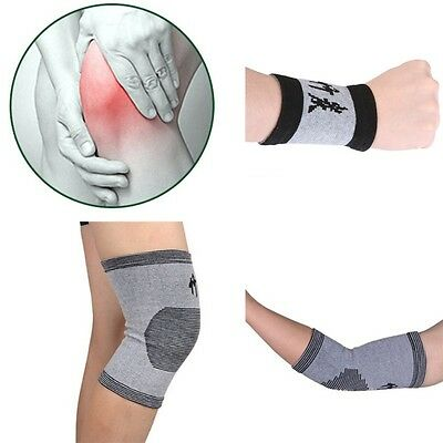 1 Pair Compression Knee Elbow Wrist Support Brace Pad Health Care Protector Pads