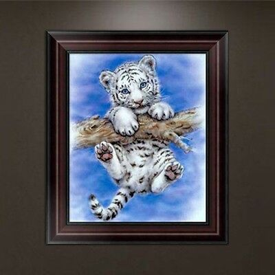 DIY 5D Diamond Cute Tiger Embroidery Painting Cross Stitch Craft Home Decor