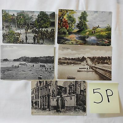 Antique Post Cards Collectors 5 Post Cards Unused Countries Places People