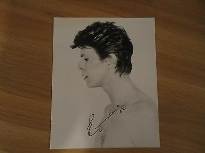 DAVID BOWIE Signed / Autograph **Rare 1981 Peter Strongwater Photo**