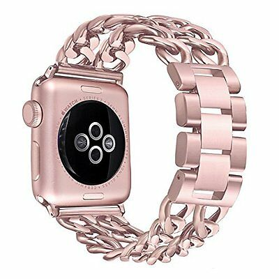 Apple Watch Band iWatch Replacement Strap Stainless Steel 38mm Women Rose Gold