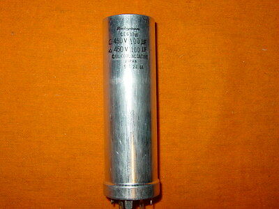 NOS RUBYCON Japan Multi Section 100uFx2 Electrolytic twist Lock Filter Capacitor