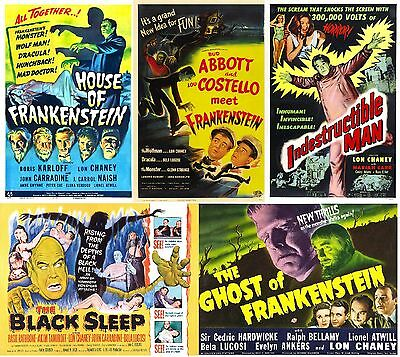Lon Chaney Jr - A4 Laminated Mini Movie Posters - Buy 4 Get 1 FREE!