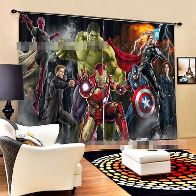 3D Cartoon 886 Blockout Photo Curtain Printing Curtains Drapes Fabric Window CA