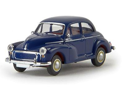 MORRIS MINOR in BLUE - FULLY ASSEMBLED HO SCALE by BREKINA