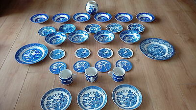 30+ Piece Dining Set , Plates Cups Saucers Coasters Bowls