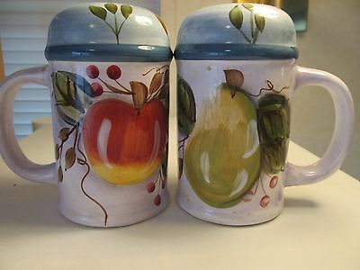 Heritage Mint China Black Forest Fruits Large Salt & Pepper Shaker Set!