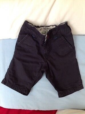 Next Boys Navy Blue Cotton Shorts Age 4 Years