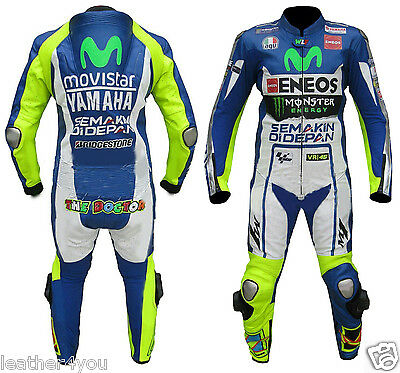 Yamaha Eneos Motorcycle Leather Suit Moto Gp Motorbike Leather Jacket Trouser