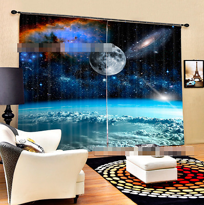 3D Planet 72 Blockout Photo Curtain Printing Curtains Drapes Fabric Window CA