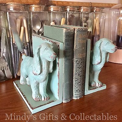 Pair of Antique Style Metal Cocker Spaniel Dog Book Ends Bookends Ornament