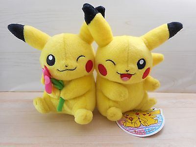 Pokemon Center Pikachu Couple Pair Plush Rare 2012 Rare Doll Figure