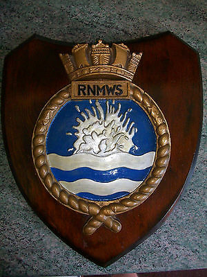 Large Royal Navy Mine Watching Service Plaque
