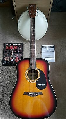 Learn Acoustic Guitar Bundle Book Picks Tuner Spare Strings Bag Music Instrument