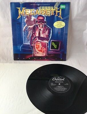 "Megadeth Hangar 18 1991 Uk Press 4 Track 12"" Vinyl Record Ep"