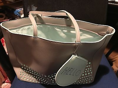 Bath and Body Works 2017 Mothers Day Tote & Zippered Clutch Change Purse Only '