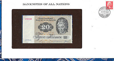 Banknotes of All Nations Denmark 20 Kroner P49a.1 1972 (1979) UNC A0791G