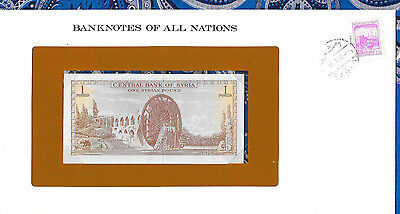Banknotes of All Nations Syria 1978 1 Pound P93d UNC prefix 1/18