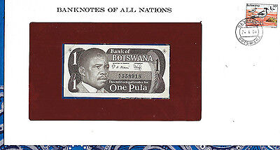 Banknotes of All Nations Botswana 1 Pala 1983 P6 UNC Prefix A/2