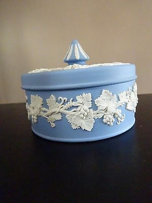 **large Blue Wedgwood Pointed Lidded Box**please Read**