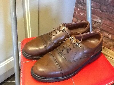 Men's STEAD & SIMPSON Casual Brown Leather Shoes , size 9 UK