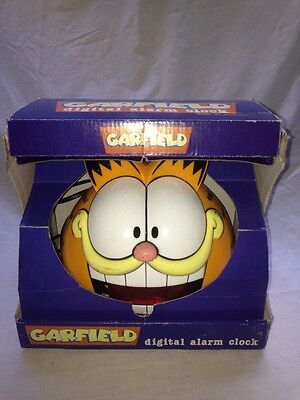 Vintage 1978 GARFIELD The Cat Digital Alarm Clock Novelty Zeon
