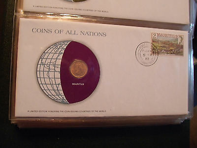 Coins of All Nations Mauritius 1 Cent 1975 UNC
