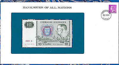 Banknotes of All Nations Sweden 10 Kronor 1979 P52d UNC