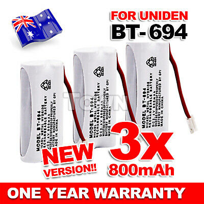 3x 800mAh Replacement For Uniden Cordless Phone Battery BT-694 BT-694S 2.4V