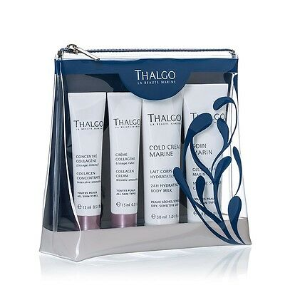Thalgo travel kit Beauty Essentials New in Bag collagen cream, concentrate body+