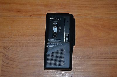 Optuimu Micro-33 Microcassette Recorder Voice Activated 2 Speed Tested & Working