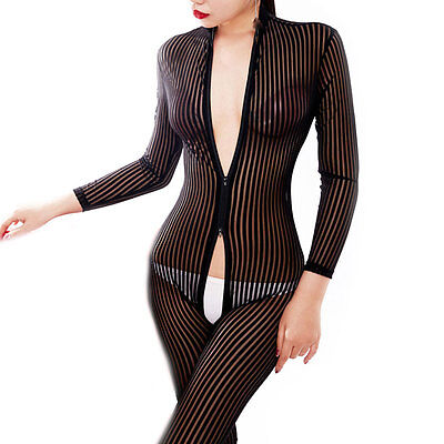 Women's Sexy Bodysuit Costume with Zipper
