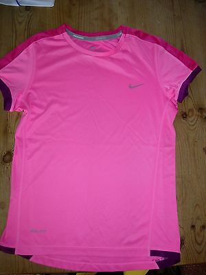 Nike Girls Dri-Fit Sports Top, 10-12 Yrs., Pink