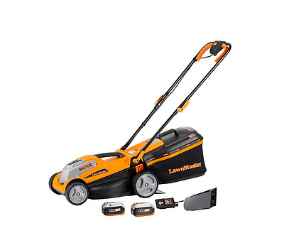 NEW !!!!  LawnMaster CLMF2413G 24V Max Li-on 14 Inch 2-in-1 Cordless Lawn Mower