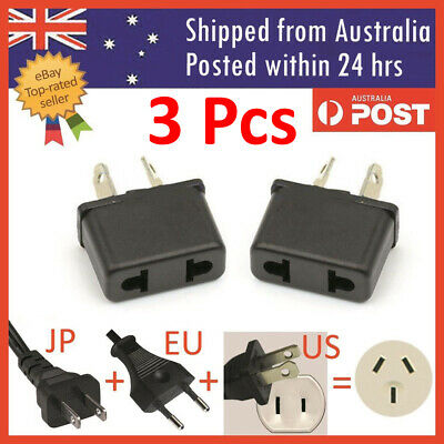 UK US EU Universal to AU Australia Plug AC Power Adapter Travel Converter