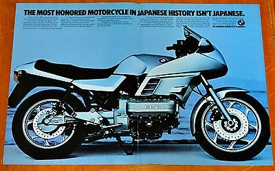 Awesome 1984 Bmw K 100 Motorcycle / Sport Bike Ad - Retro Vintage 80S Old School