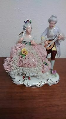 DAMAGED - Antique Meissen Germany Figurine Couple Statue - AS IS