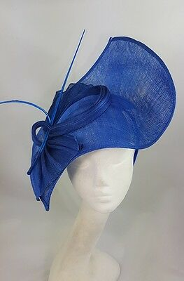 Blue Hat Fascinator Disc Ascot Wedding Mother of the Bride Occasion