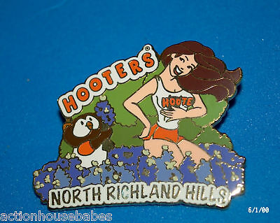 Hooters Restaurant Flower Girl North Richland Hills Texas Hootie Lapel Pin