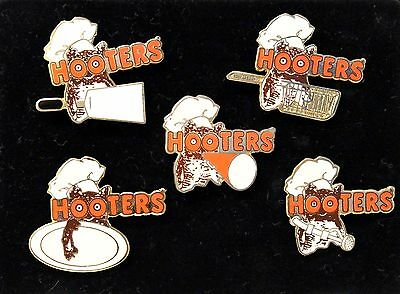 Hooters Restaurant All 5 Lot Kitchen Chef Cook Staff Lapel Pin Set