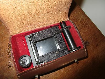 Vintage Yashica 635 TLR Camera 35mm Film adapter kit in Leather case